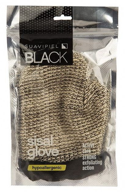 Фото SUAVIPIEL SUAVIPIEL Рукавица - мочалка / BLACK SISAL GLOVE